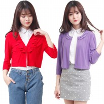 HOT ITEM WOMEN CROP CARDIGAN