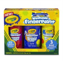 CRAYOLA 3ct Washable Fingerpaint Primary Color 551310