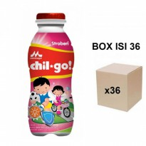 Morinaga Chil Go Strawberry 140ml - Karton isi 36pcs
