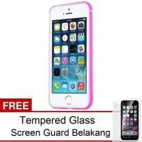 TOTU Evoque Bumper Rubber Frame iPhone 6 Plus – Pink + Free Tempered Glass & Antigores Belakang