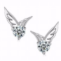 Anting Crystal Angel Wing Gold Plated