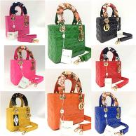 tas bag branded wanita Dior lady scraf mini