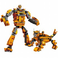 SUPER SALE - EDU BLOCKS KIDS FUN - TRANSFORM WARRIOR 6+ - SNI