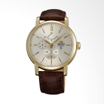 Orient Sapphire Crystal Power Reserve Automatic Watch Jam Tangan Pria - Brown [FEZ09002S]