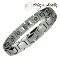 Bracelet Diamond Two Tone Tungsten Ceramic Magnetic