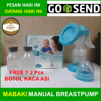 MABAKI Manual Breast Pump | Bonus 2 Botol Kaca | Pompa