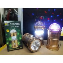 Lampu Lentera Senter support Power Bank + Lampu Disco