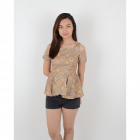 De Voile Batik Fashion Wanita Modern Usab Kasana top (Brown)