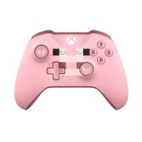 Xbox One S Minecraft Pink Pig Wireless Controller