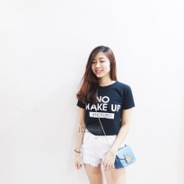 JCLOTHES Tumblr Tee / Kaos Wanita / T-Shirt / Kaos Cewe No Make Up - Hitam
