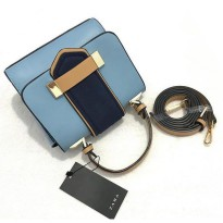 Zara Contrast Mini City Bag-Blue