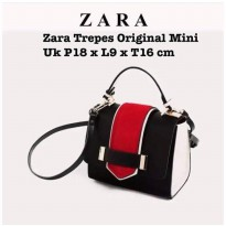 Zara Contrast Mini City Bag-Red