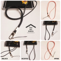 NT-001 Tali Lanyard Name Tag ID Card Strap Leather BRAIDED Kepang