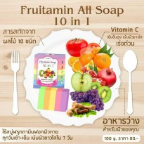 Fruitamin Soap 10 in 1 By Wink White/Original Thailand/Sabun Pemutih
