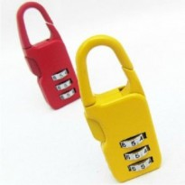 WA1441 - Travel Lock Gembok Kunci Warna (RANDOM COLOR)