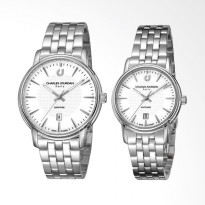 Charles Jourdan Sapphire Stainless Steel Jam Tangan Couple - Silver CJ1005-1312/2312