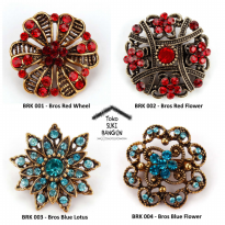 BRK 001-004 Bros Pin Mungil Bunga Wanita Fashion Flower Brooch Women
