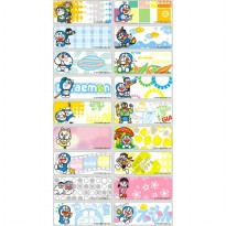 Name Label Sticker Stiker Waterproof Anti Air Size S M L Doraemon