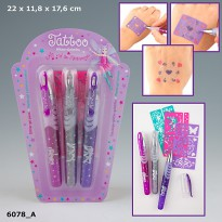 Top Model 6078 Ylvi & the Minimoomis Tattoo Glitter Gel Pens