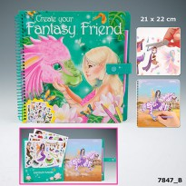 TOP Model 7847 Fantasy Model & Friends Colouring Book With Scratch Sticker