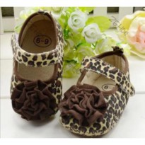 Prewalker shoes (sepatu baby) - Brown leopard