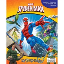 [Hellopandabooks] My Busy Book Marvel Spiderman includes a Storybook, 12 Disney Figurines