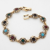 Gelang Bohemian Rustic Look Gold Plated