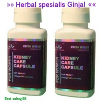KIDNEY CARE CAPSULE Green Word For Woman Ahlinya obat Ginjal