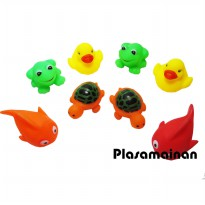 Vynil Animal 8 Pcs kantong - duck and friends -Mainan Bayi