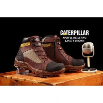 SEPATU BOOTS CAT MARVEL RESLETING SAFETY, UKURAN 39-43.