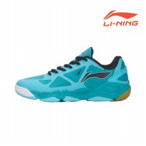 Li-Ning Badminton Training Shoes Butterfly Blue /Water Blue/New Basic Black AYTM037-3 Sz 7