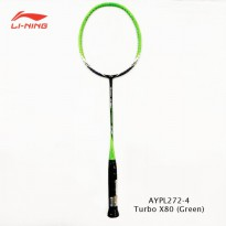 Li-Ning Badminton Racket Turbo X 80 green tanpa free