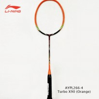 Li-Ning Badminton Racket Turbo X 90 orange tanpa free