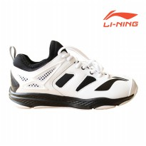 Li-Ning Badminton Training Shoes Black/White AYTM019-1 Sz 9