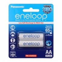 Eneloop AA 2000mAh BP2 - Baterai Rechargeable - Low Self Discharge