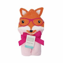 Hudson Baby Animal Face Hooded Towel Foxy - Handuk