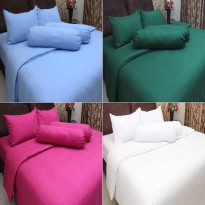 ROSEWELL BED COVER + SPREI POLOS MICROTEX 180x200cm