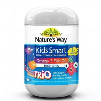 Nature's Way Kids Smart Omega 3 Fish Oil Trio 180 Soft Capsules