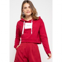 MP023 pbch crop hoodie thdy sign square maroon