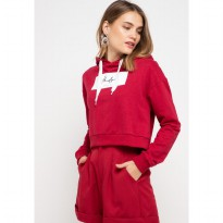 MP009 pbch crop hoodie thdy sign rectangle maroon