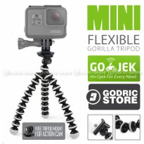 Octopus Gorilla Mini Tripod With Mount for GoPro Hero, Brica Alpha Edition & Xiaomi Yi