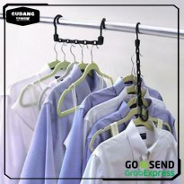 [BUY 1 GET 1] WONDER HANGER MAGIC GANTUNGAN BAJU PRAKTIS 5 LUBANG SU0001