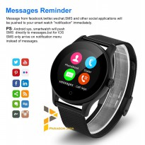 (Limited Offer) Smart Watch K88H / Smartwatch K88H BESI HITAM HEART RATE ANDROID IOS