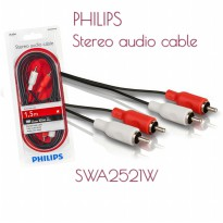 PHILIPS SWA2521W 1.5M Ensure a reliable connection with this stereo audio cable