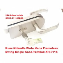 Kunci+Handle Pintu Kaca Frameless Swing Single Kaca-Tembok XH-8115