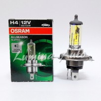 Osram All Season Super ( ALS ) H4 60/55 Watt - Lampu Mobil Warna Kuning Terang / Yellow