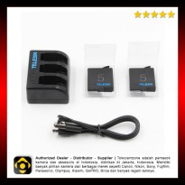 Telesin GP-BCG-503 Travel Charger With 2 Batteries For GoPro Hero5