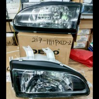 217-1111PXLD-2 Headlamp Civic Genio/ Estilo 92-95 Crysta black