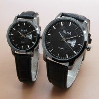 [Couple Set] Jam Tangan Alba Couple Leather TA0325