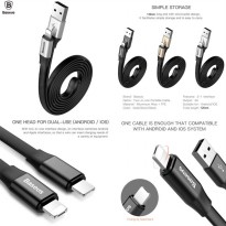 Baseus Two-in-one Portable Lightning 8-Pin and Micro USB Cable 120cm